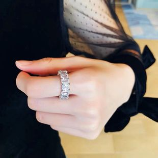 Exquisite high quality crystal ring with super flash diamonds NHYQ177319's discount tags