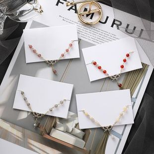 Girl Heart Bow Bracelet Sweet Simple Crystal Beads NHMS177162's discount tags