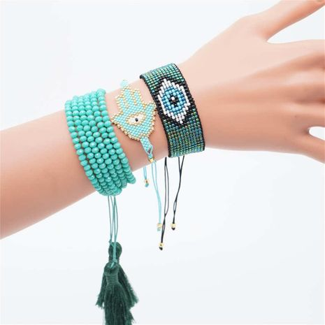 Fashion hot devil's eye ladies bracelet miyuki rice beads woven jewelry NHGW177189's discount tags