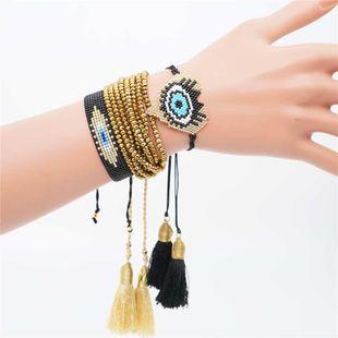 Miyuki Japanese rice beads braided ladies bracelet devil's eye set ornament NHGW177218's discount tags