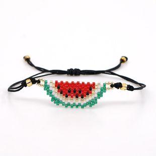 New women's bracelet fruit jewelry Miyuki rice beads hand-woven watermelon friendship rope jewelry NHGW177222's discount tags