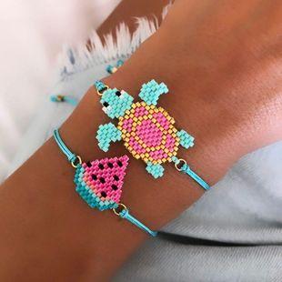 New Turtle turtle hand-woven animal pattern jewelry women's bracelet friendship rope NHGW177224's discount tags