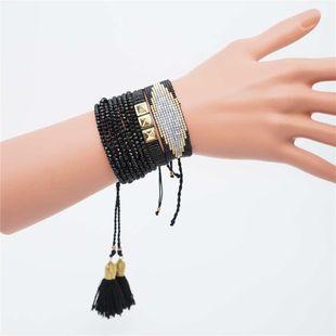 Miyuki rice beads female bracelet devil's eye set ornament NHGW177230's discount tags