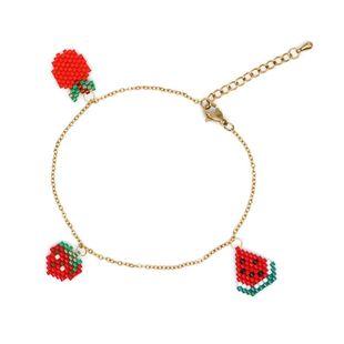 Women's Bracelet Miyuki Rice Beads Hand-knitted Fruit Star Bracelet NHGW177232's discount tags