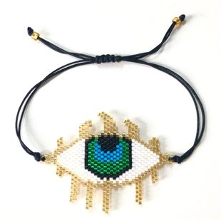 Blue Turkish Religious Totem Eyelash Eyes Women's Bracelet Jewelry NHGW177233's discount tags