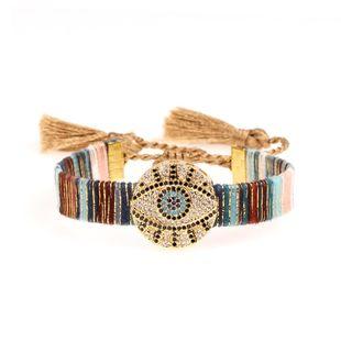Bohemian friendship tassel bracelet fashion micro-encrusted devil's eye bracelet NHPY177259's discount tags