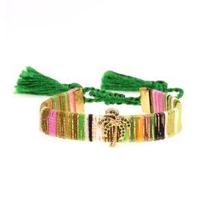 Hot Sale Handmade Tassel Bracelet Fashion Micro-Inlay Diamond Coco Geometric Bracelet NHPY177285's discount tags