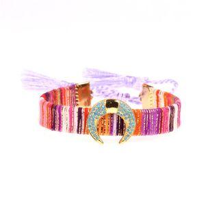 Hot tassel bracelet micro inlay blue diamond moon bud horn micro-inlaid bracelet NHPY177289's discount tags