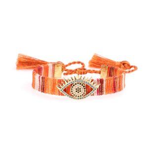 New Devil's Eye Bracelet Micro-inlaid Zircon Eye Bracelet Bohemian Fringe Bracelet NHPY177291's discount tags