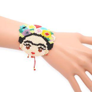 New women's bracelet miyuki rice beads hand-woven bracelet Fridada cartoon jewelry NHGW177191's discount tags