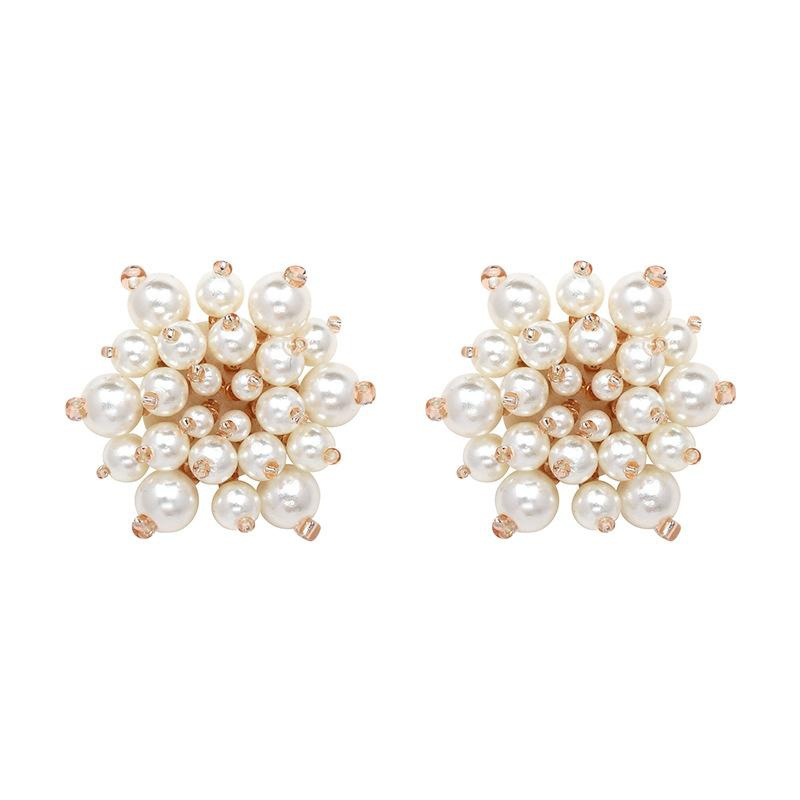 New ear jewelry high-grade full diamond ball earrings NHJJ177062