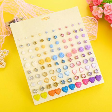 Fresh and fashionable earrings female cute resin starry earrings set NHSD177254's discount tags