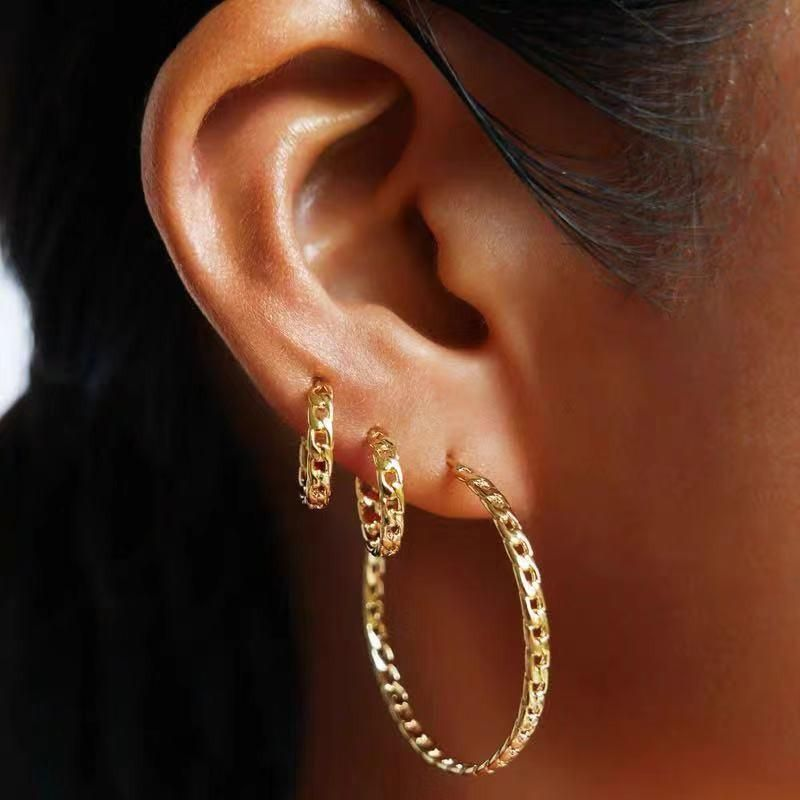 Fashion classic rattan exaggerated big circle earrings simple circle earrings female NHYQ177311