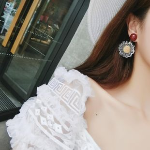 Sweet Sunflower Earrings Transparent Acrylic Flower Earrings Fashion Exaggerated Earrings NHMS177108's discount tags