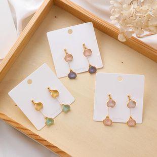 S925 silver glazed petal earrings female Sen earrings NHMS177131's discount tags