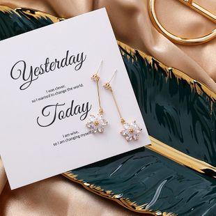 S925 silver sweet simple flower earrings literary long flower earrings NHMS177132's discount tags