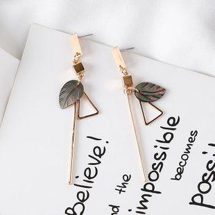 Geometric seashell triangle earrings leaf earrings female fashion earrings NHMS177168's discount tags