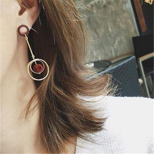 Jewelry multicolor hollow ring velvet ball earrings female earrings NHMS177173's discount tags