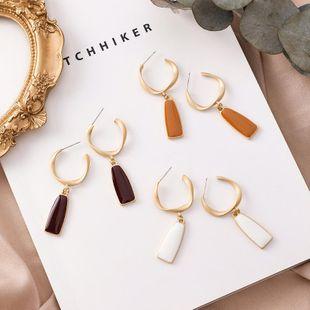 S925 nuevos pendientes de plata pendientes largos geométricos circulares femeninos NHMS177180's discount tags