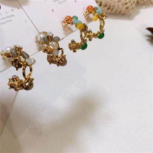 Pendientes delicados vintage barrocos pendientes de diamantes esmaltados NHYQ177298's discount tags