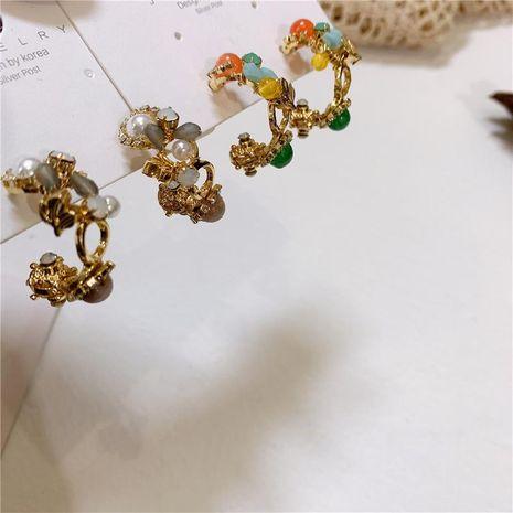 Baroque vintage delicate earrings enamel colored diamond earrings NHYQ177298's discount tags