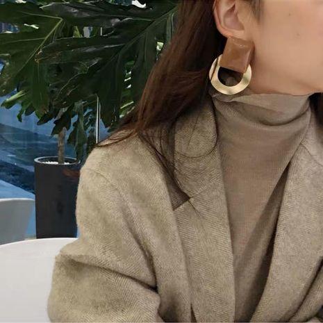 Earrings Hong Kong-flavored resin drop oil acrylic square geometric earrings earrings NHYQ177299's discount tags