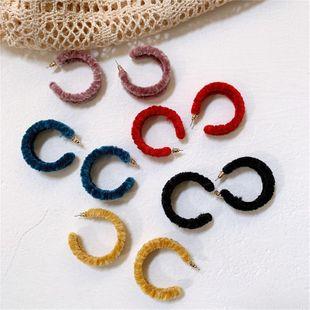 Nuevo Morandi color fae fleece plush color circle aretes mujer NHYQ177301's discount tags