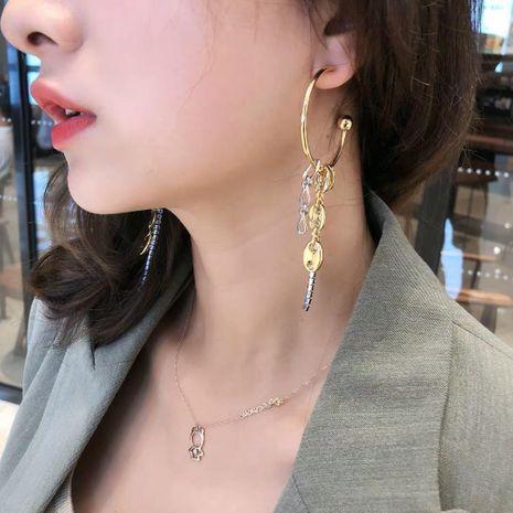 Long earrings pig nostrils chain tassel earrings NHYQ177316's discount tags
