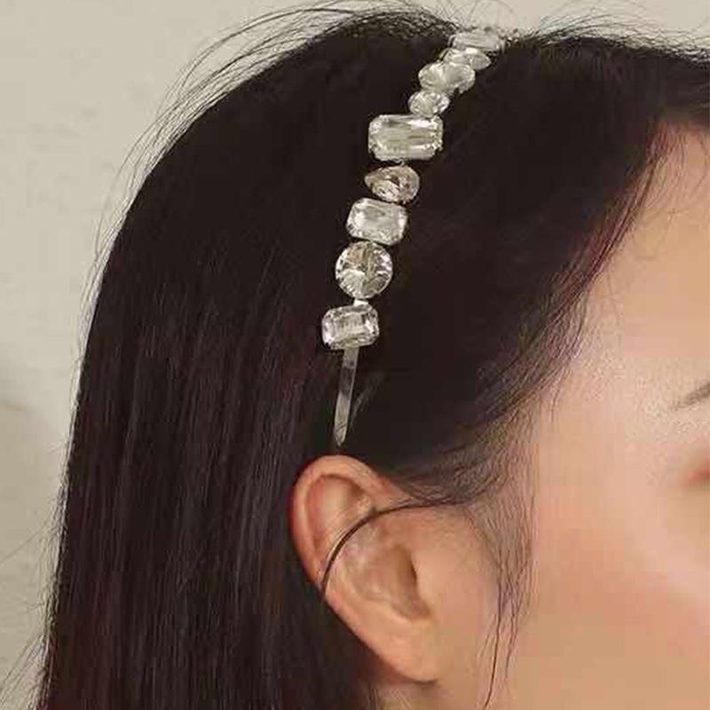 New headband alloy geometric rhinestone fashion catwalk headdress NHKC177336
