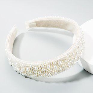 Diadema de perlas llenas corazón de niña femenina diadema súper intermitente moda nueva hebilla de cabeza NHLN177039's discount tags