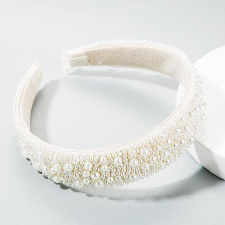 Full pearl headband female girl heart super flashing headband fashion new head buckle NHLN177039's discount tags