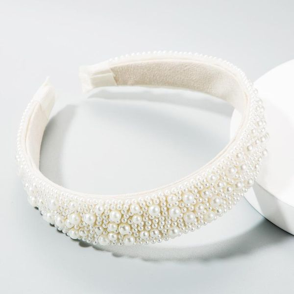 Full pearl headband female girl heart super flashing headband fashion new head buckle NHLN177039