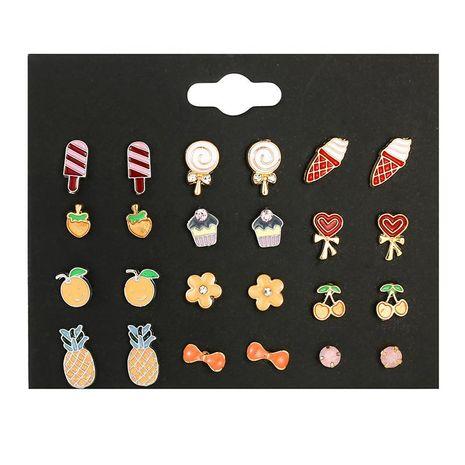Drop oil cherry earrings set wild ice cream ice cream cute earrings NHSD177246's discount tags