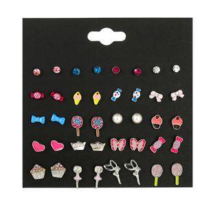Pendientes de color caramelo lindo para niños, pendientes de aceite de gota de ángel de perlas, pequeñas joyas NHSD177250's discount tags