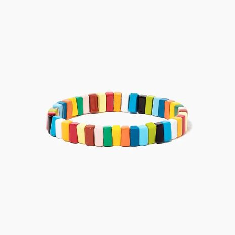 Rainbow Zinc Alloy Painted Color Protected Female Bracelet NHGW177202's discount tags