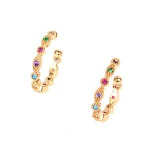 Color de moda clips de oreja de circón sin aretes perforados C aretes pequeños aretes de clip de hueso de oreja NHPY177263's discount tags