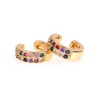 Fashion ins color circón clips de oreja sin aretes perforados aretes pequeños aretes de hueso hueso clip NHPY177267's discount tags
