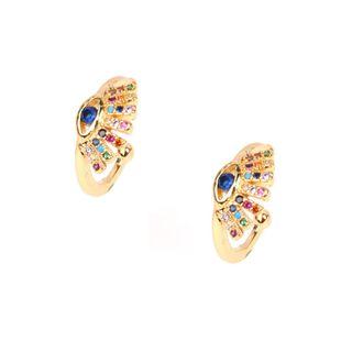 Color de moda circón clip de oreja del diablo aretes perforados pendientes pequeños pendientes de clip de hueso de oreja NHPY177270's discount tags