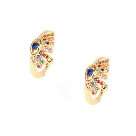 Fashion color zircon devil's eye ear clip ear pierced earrings small earrings ear bone clip earrings NHPY177270's discount tags