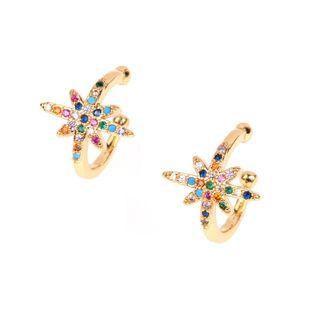 Pendientes de diamantes de meteorito de palabra de metro de moda pendientes de clip de hueso de oreja Pendientes de clip de oreja de anillo pequeño tipo C NHPY177271's discount tags