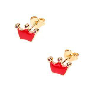 Pendientes de diamantes de corona femeninos populares de gota de aceite de moda NHPY177273's discount tags