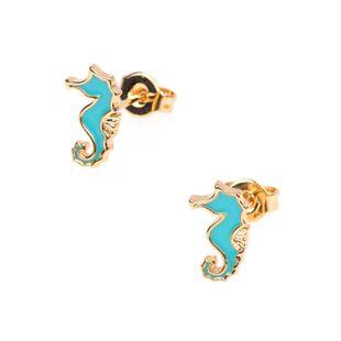 Fashion creative drop oil men and women hippocampus earrings ear needle animal earrings NHPY177277's discount tags