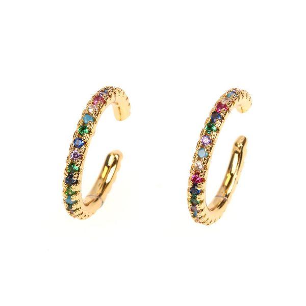 New hot earrings fashion light luxury pierced ear bone clip micro-set fine diamond ear clip NHPY177282
