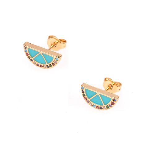 New diamond earrings Europe and America creative drop oil orange lemon earrings ear pin men and women earrings NHPY177283's discount tags