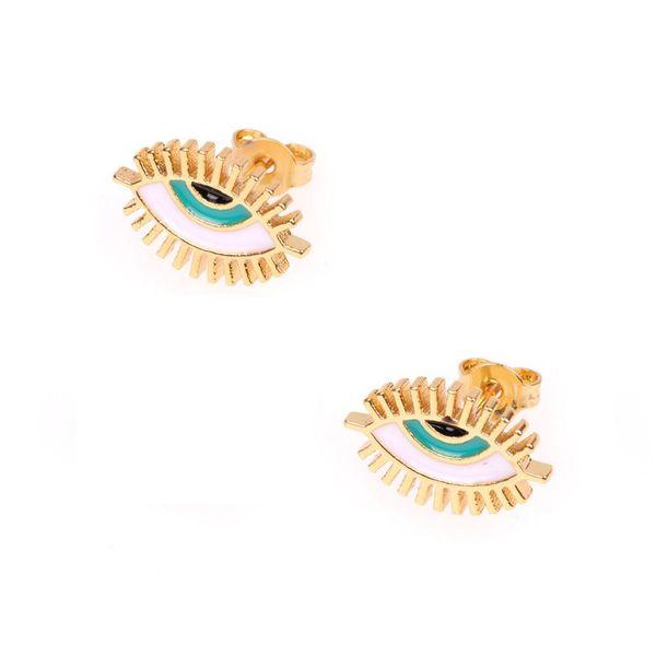 Nuevas joyas calientes ojos pequeños pestañas aceite pequeños pendientes mujeres pendientes de moda NHPY177286