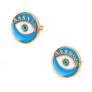 Nuevos pendientes creativos pendientes del ojo del diablo pendientes redondos de goteo NHPY177279's discount tags