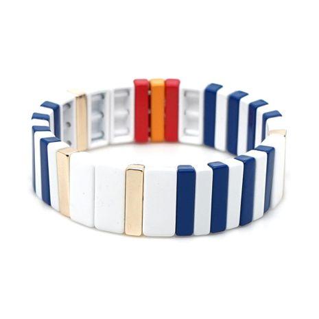 Fashion zinc alloy paint glaze color protection men and women bracelet jewelry NHGW177194's discount tags
