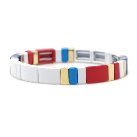 New bohemian zinc alloy paint mixed color with color and men's bracelet jewelry NHGW177195's discount tags