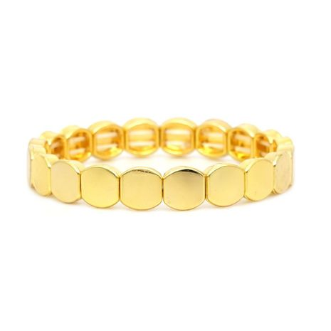 Couple bracelet zinc alloy paint glaze color gold original jewelry NHGW177197's discount tags