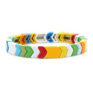 Color de pintura de aleación de forma de escama de pez que retiene joyería de pulsera para hombres y mujeres NHGW177198's discount tags